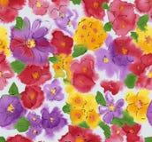 Aquarell des Blumenhintergrundes Stockbilder