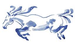 Aquarell des laufenden Pferds lizenzfreie stockbilder