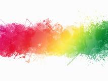 Aquarell-Farbe plätschern Grenze lizenzfreie stockfotos