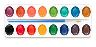 Aquarell-Farben auf Weiß Lizenzfreie Stockbilder