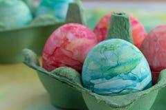 Aquarell gemalte Ostereier Stockbild