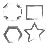 Aquarell-geometrische Formen Stockfotografie