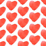Aquarell heart, vector vintage seamless pattern Royalty Free Stock Images