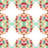Aquarell-helles blaue und hellrosa Dreieck-nahtloses Muster lizenzfreie abbildung