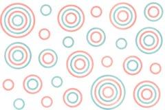 Aquarell kreist Muster ein Stockfotografie