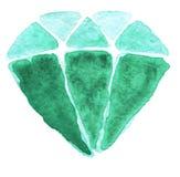 Aquarell-Kristall Lizenzfreies Stockbild