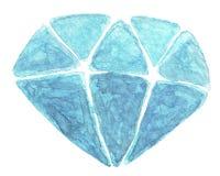 Aquarell-Kristall Lizenzfreie Stockfotografie