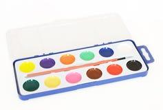 Aquarell malt Palette Lizenzfreies Stockbild