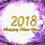 Aquarell maserte 2018 Stockbilder