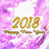 Aquarell maserte 2018 Lizenzfreie Stockfotos
