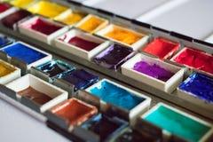 Aquarell-Palette 3 Stockfotografie