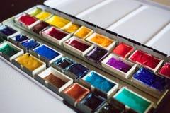 Aquarell-Palette 4  lizenzfreies stockbild