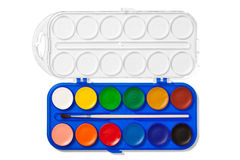 Aquarell-Palette mit Beschneidungspfad Lizenzfreies Stockbild