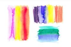 Aquarell-Regenbogen-Hintergründe Ombre-Aquarell-Hintergründe stock abbildung