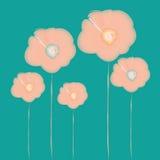 Aquarell-rosa Blumen Lizenzfreie Stockbilder