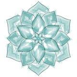 Aquarell-schöne Blumen-Mandala Stockfoto