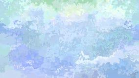 Aquarell Splotcheffekt - helle Pastenfarbblaues grünes Purpur stock footage