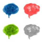Aquarell-Sprache-Blasen-Satz Lizenzfreies Stockfoto