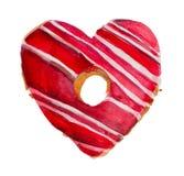Aquarell-St.-Valentinsgruß ` s Tag `` süßer Valentinsgruß `` stock abbildung