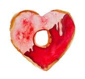 Aquarell-St.-Valentinsgruß ` s Tag-` süßes Valentinsgruß ` stock abbildung