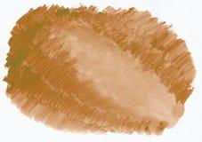 Aquarell-Steigungshand des orange Ingwers horizontale zurück gezeichnet Stockfotos