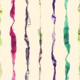 Aquarell streift nahtloses Muster lizenzfreie abbildung