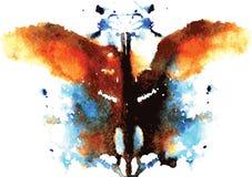 Aquarell symmetrischer Rorschach-Fleck Lizenzfreie Stockbilder