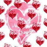 Aquarell-Valentinsgruß ` s Tageshintergrund Zwei Innere Lizenzfreie Stockfotos