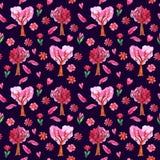 Aquarell-Valentinsgruß ` s Tagesnahtloses Muster stock abbildung