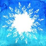 Aquarell verlässt Hintergrund Lizenzfreies Stockfoto
