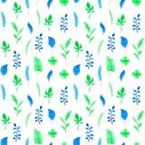 Aquarell verlässt Muster Illustration für Design, Karte, Druck, Dekorationen oder Hintergrund Stockfotos