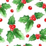 Aquarell-Weihnachts- und des neuen Jahresdekorationen Stockfoto