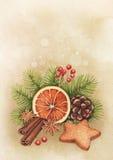 Aquarell-Weihnachtskarte Lizenzfreie Stockbilder