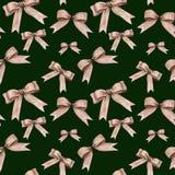 Aquarell-Weihnachtsnahtloses Muster Lizenzfreie Stockbilder