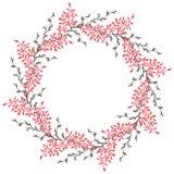 Aquarell-Winterkranz mit Niederlassungen Vektor Abbildung