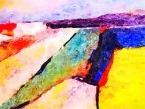 Aquarell-Zusammenfassungs-Landschaftsmalerei vektor abbildung