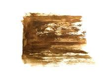 Aquarellb?rstenhand gezeichnet auf braune Papierzusammenfassung vektor abbildung
