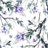 Aquarellblütenbaum Lizenzfreie Stockfotos
