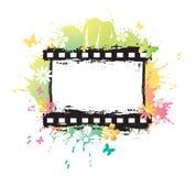 Aquarellblumen-Filmstreifen Stockfoto