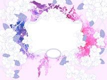 Aquarellblumenhintergrund Stockbild