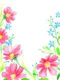 Aquarellblumenstrauß Stockbild