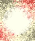 Aquarellblumenstrau? von Blumen, sch?nes abstraktes Spritzen der Farbe, Modeillustration Orchideenblumen, Mohnblume, Kornblume vektor abbildung