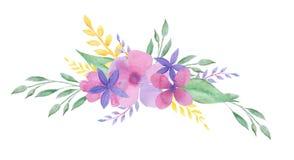Aquarellblumenzusammensetzung Feld, Hochzeit desigh vektor abbildung