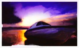 Aquarellboot vektor abbildung