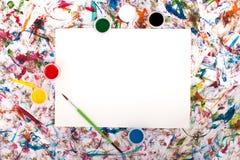 Aquarelle, éclaboussure, papier Image stock
