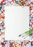 Aquarelle, éclaboussure, papier Image libre de droits
