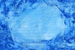 aquarelle abstraite de bleu de fond Images libres de droits
