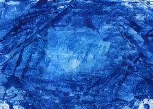 aquarelle abstraite de bleu de fond Photographie stock libre de droits