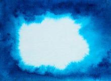aquarelle abstraite de bleu de fond illustration libre de droits
