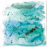 Aquarelle art bluish background Royalty Free Stock Photography